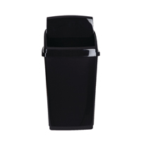 2Work Swing Top Bin 30 Litre Black