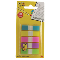 3M Post-it Portable Small Index 12mm Assorted 683-5CBINDEX