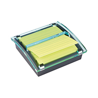 Post-it Z Notes Millenium Dispenser with Super Sticky Lined Pad 101x101mm Yellow BOGOF 3M811238