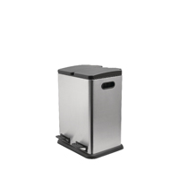 Addis Twin Sect Recycling Bin Stainless