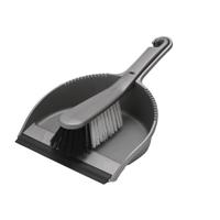 Addis Soft Dustpan/Brush Set Metallic