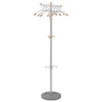 FF Alba Elegant Met/Wood Wave Coat Stand