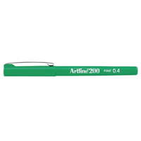 Image for Artline 200 Green Fineliner Pen Pk12