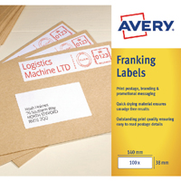 Image for Avery Franking Label 194x39mm FL06