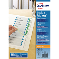 Dividers/Indexes/Tabs