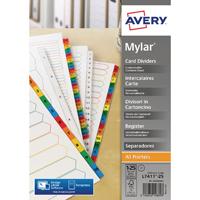 Avery Bright White 1-25 A4 Numeric Index