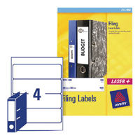 Avery Lever Arch Filing Labels 200x60mm (Pack of 100) L7171-25
