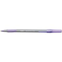 Bic Round Stic Grip Purple Ballpoint Pen Class Pack (Pack of 40) 920412