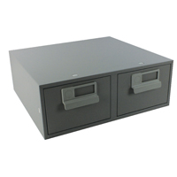 Bisley Grey Card Index Cabinet 6x4in DBL
