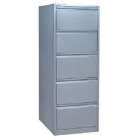 Bisley 5 Drawer Filing Cabinet Flush Fronted Goose Grey BS5EGY