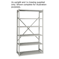 Bisley W1000xD460mm Grey Shelving Kit