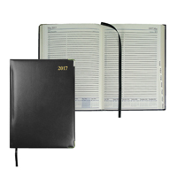 Collins Classic 2017 Compact Day per Page Appointment Diary Black (Pack of 1) 1250V