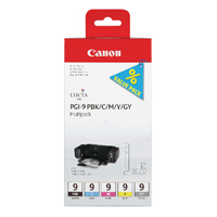 Canon PGI-9 Bk/C/M/Y/Gry Ink Cartridges