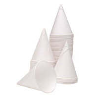 4oz Water Drinking Cone Cup White Pk5000