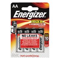 Energizer MAX E91 AA Batteries Pk4