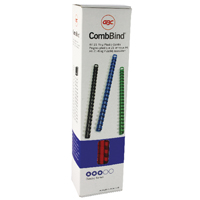Image for GBC Binding Combs 21 Ring A4 8mm Red 4028214 (PK100)