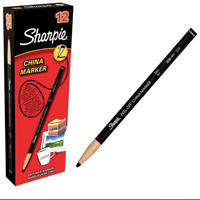 Sharpie Black China Marker Pk12