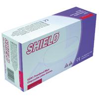 Shield Latex Gloves Blue Small Pk100