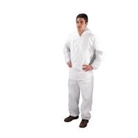 XXL White Non-Woven Coverall DC03