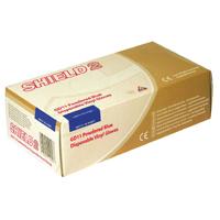 Shield Powdered Blue Medium Vinyl Gloves (Pack of 100) GD11