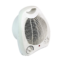 Fan Heater Upright 2kw White HID52553