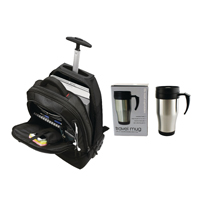 Motion II 2 in 1 Wheel Laptop Backpack with FOC Mug