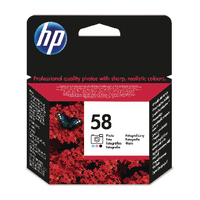 HP 58 Photo Ink Bk/Lt.Cy/Lt.Mag C6658AE