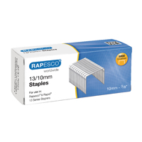 Rapesco Staples 10mm 13/10mm (Pack of 5000)