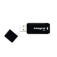 Integral Black USB 2.0 8Gb Flash Drive INFD8GBBLK