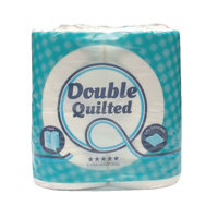 2Work Luxury White 2-Ply Quilted Toilet Roll 10 (Packs of 4) DQ4Pk