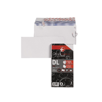 Plus Fabric DL Envelopes 110gsm Peel and Seal White (Pack of 25) R10004