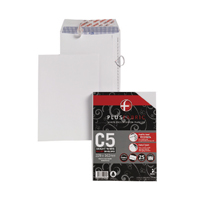 Plus Fabric C5 Envelope Peel and Seal 110gsm White (Pack of 25) R10005