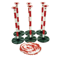 Barrier Chain Support Post Red Wh
