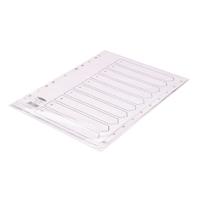 Concord Polypropylene Index 1-10 A4 White 64101