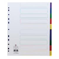 Concord Polypropylene Divider A4 Extra Wide 10 Part Multicoloured 66199