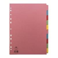 Concord A4 10-Part 5-Colour Dividers (1 Set of 10) 72099/J20