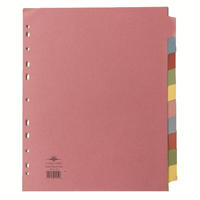 Concord Subject Divider 10-Part A4 Extra-Wide For Punched Pocket 72699/J26