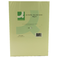 Q-Connect Yellow Coloured A4 Copier Paper 80gsm Ream (Pack of 500)