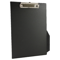 Q-Connect Black A4/Foolscap PVC Clipboard KF01296