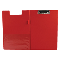 Q-Connect Red A4/Foolscap PVC Foldover Clipboard KF01302