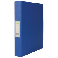Q-Connect 2 Ring 25mm Polypropylene Blue A4 Binder (Pack of 10) KF02003
