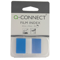 Q-Connect Blue 1 Inch Page Marker (Pack of 50) KF03632
