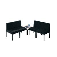 FF Jemini Charcoal Reception Chair
