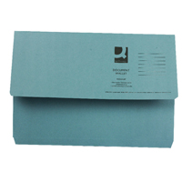 Q-Connect Foolscap Blue Document Wallet Pack of 50 KF23011
