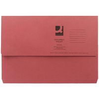 Q-Connect Foolscap Red Document Wallet Pack of 50 KF23016