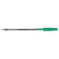 Q-Connect Medium Green Ballpoint Pen (Pack of 20) KF34045