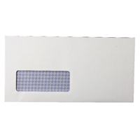 Q-Connect DL Window Envelopes 80gsm Self Seal White (Pack of 1000) KF3455