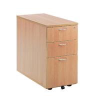 FF Jemini Beech 3 Drw Desk High Ped 800