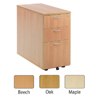FF Jemini Maple 3 Drw Desk High Ped 800