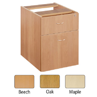 FF Jemini Maple 2 Drawer Fixed Ped